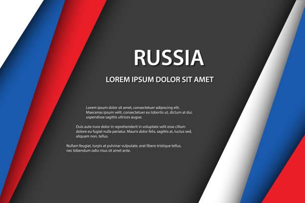ilustrações, clipart, desenhos animados e ícones de fundo moderno do vetor, folhas de papel sobrepostos no olhar da bandeira do russo, feito em rússia, cores do russo e espaço livre cinzento para seu texto - bandeira union jack