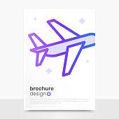 Modern Vector Brochure Design. Plane Vector Brochure Mockup. Business Brochure Templates