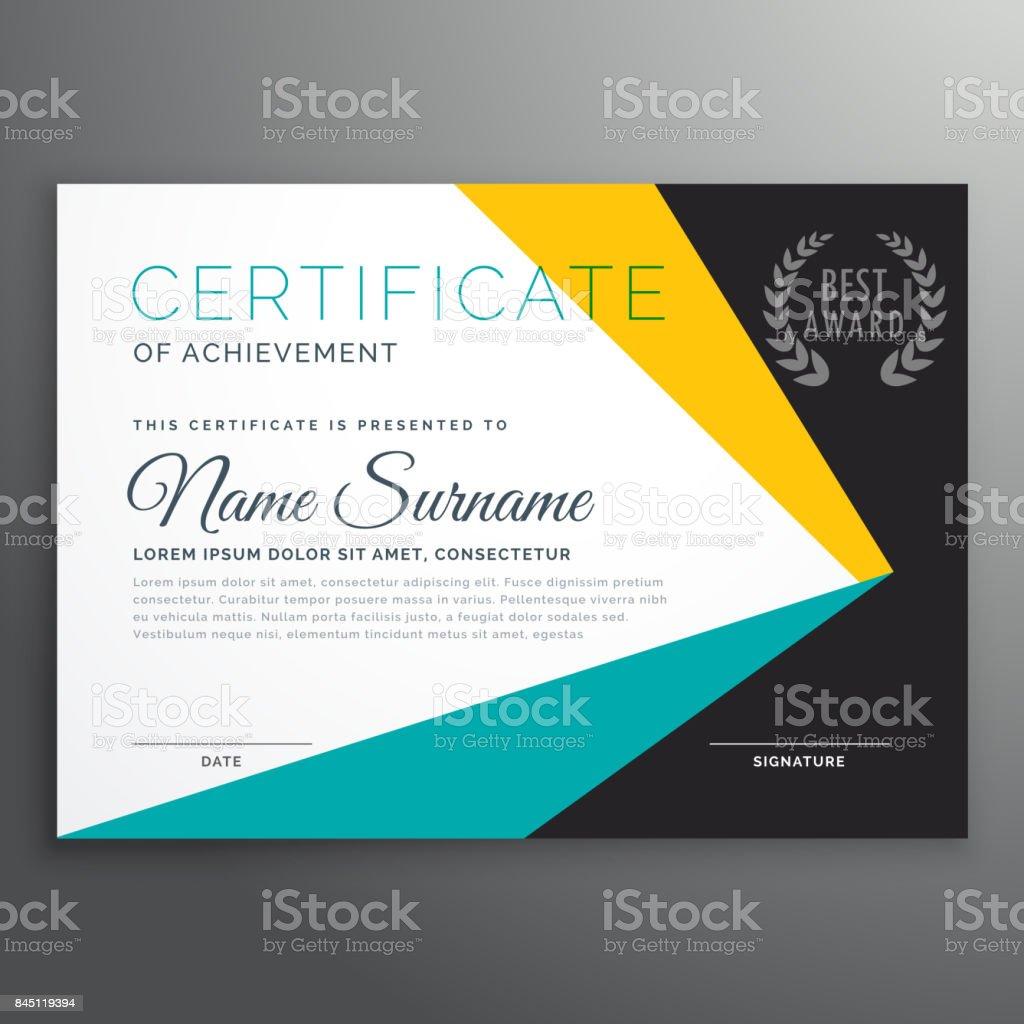 Moderne Vektor Zertifikatvorlage Mit Geometrischen Formen Stock ...