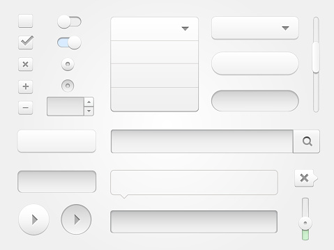 Modern vector collection of multimedia web elements