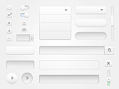 Modern vector collection of clean and minimal white web elements for your multimedia projects. High resolution jpeg file included.