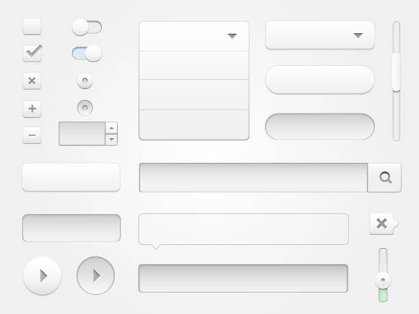 modern vector collection of multimedia web elements - 按鈕 幅插畫檔、美工圖案、卡通及圖標