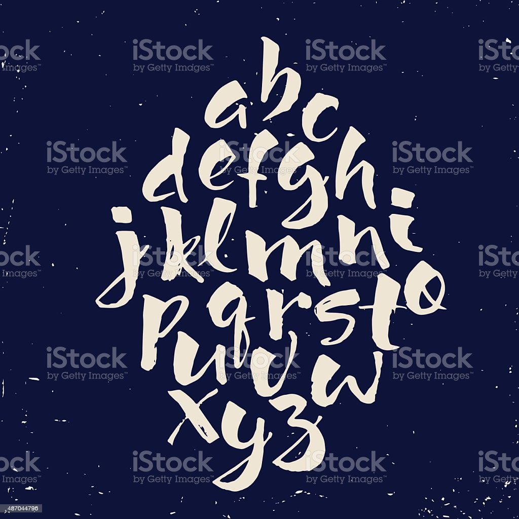 Modern vector hand written alphabet. vector art illustration