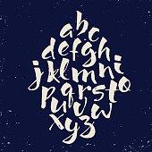 Modern vector hand written alphabet.
