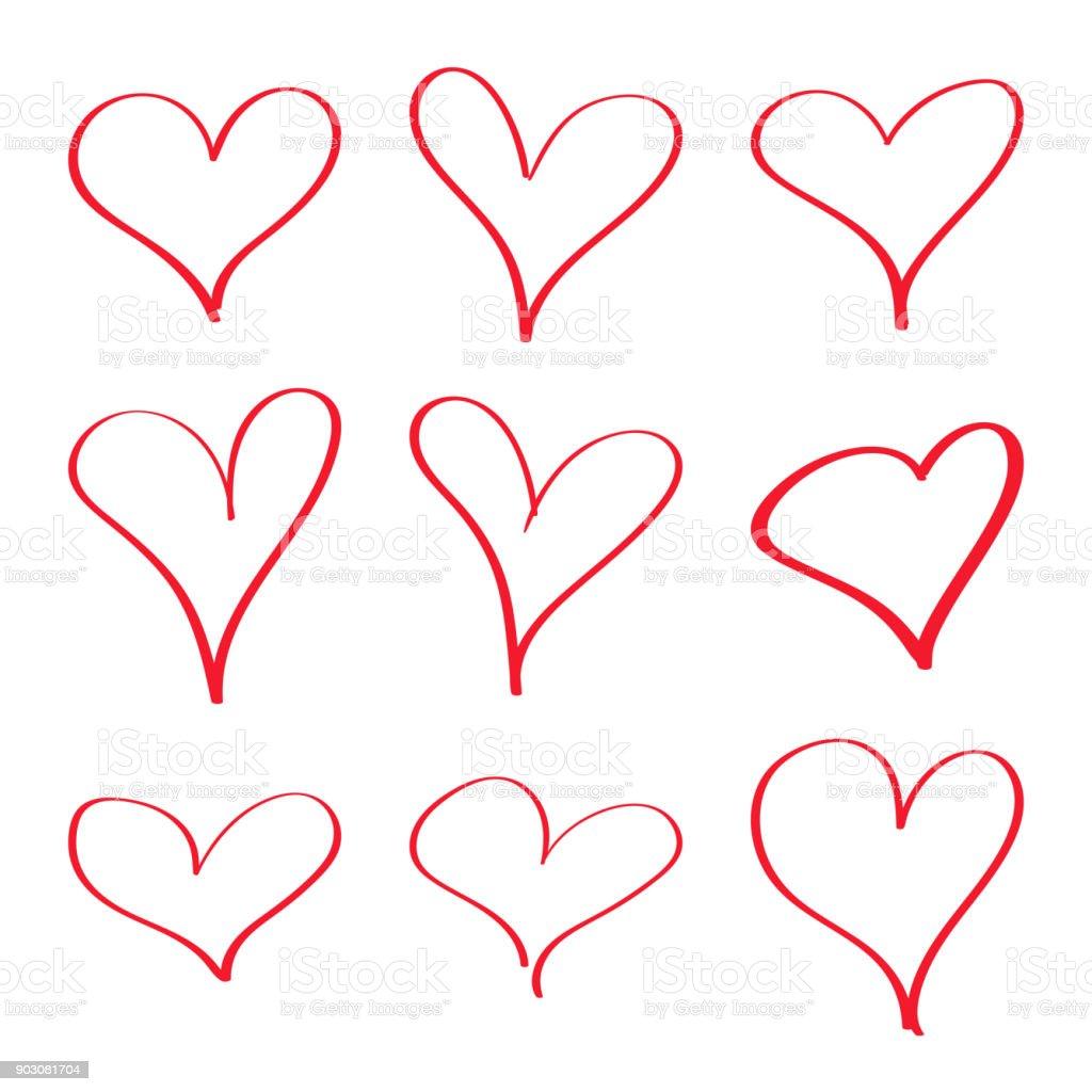Modern vector heart. royalty-free modern vector heart stock vector art & more images of broom