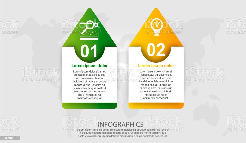 modern vector illustration 3d rectangle template with an arrow with