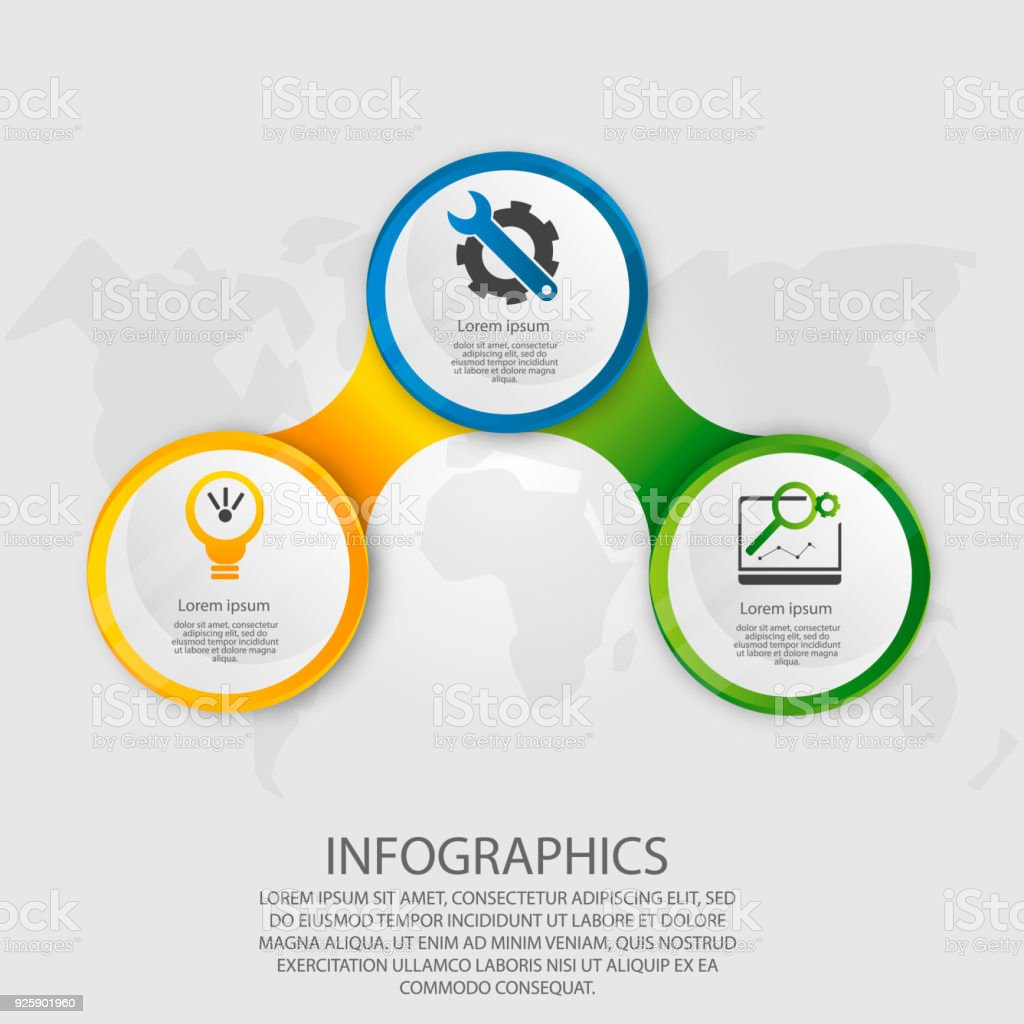 Three circle 3d diagram search for wiring diagrams modern vector illustration 3d template circle infographics with rh istockphoto com powerpoint circle diagram venn diagram with universal set with 3 circle s ccuart Gallery