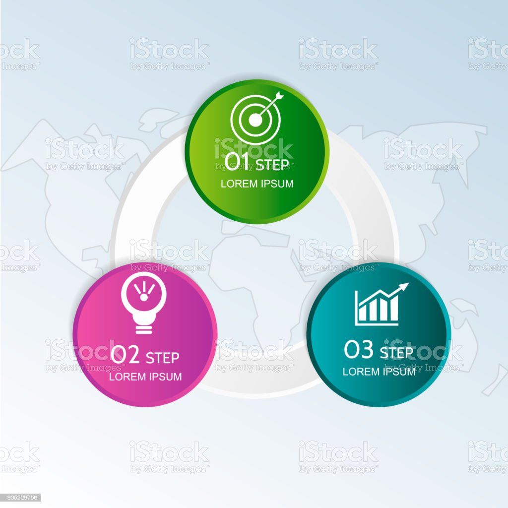 modern vector illustration 3d template of circular infographics with