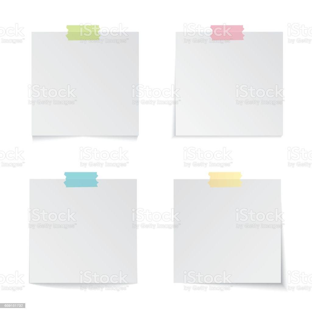 Moderne Vektor-Illustration des bunten Sticks beachten Sie Satz isoliert auf weißem Hintergrund moderne Vektor-Illustration von bunten Stick Hinweis Satz isoliert auf weißem Hintergrund - Lizenzfrei Abstrakt Vektorgrafik