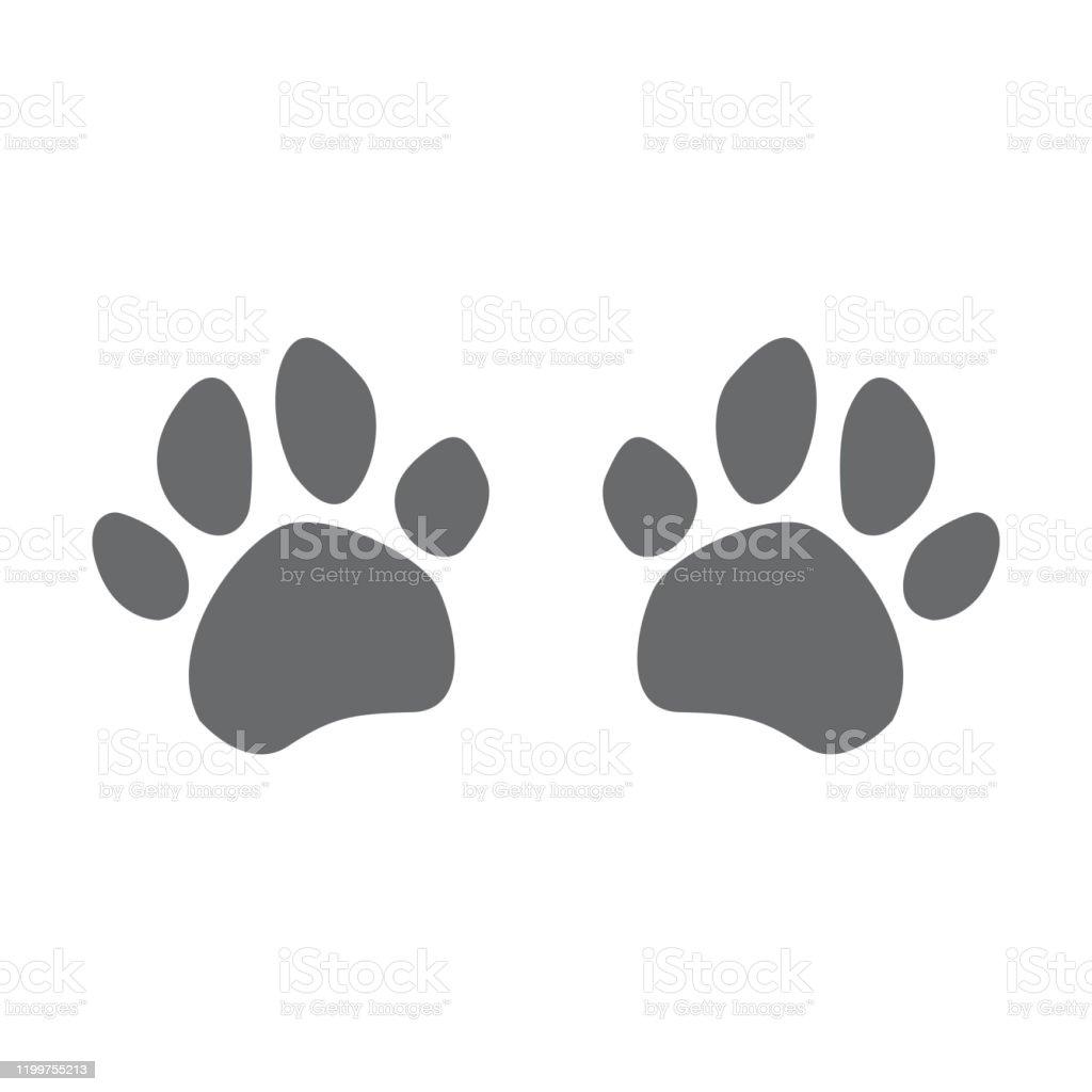 犬の足跡の現代ベクトルのイラスト犬の足のアイコン つま先のベクターアート素材や画像を多数ご用意 Istock