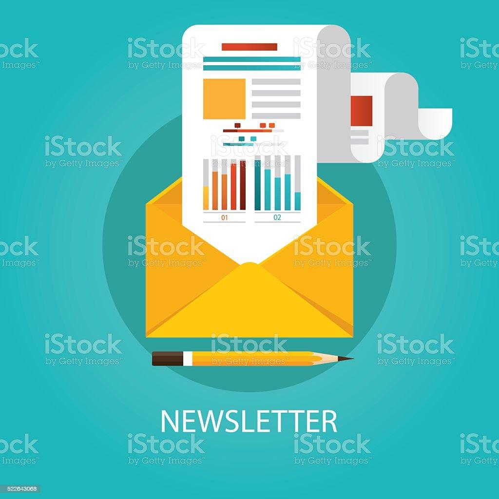 Modern vector illustration of newsletter vector art illustration
