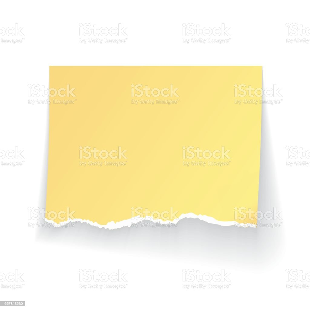 Modern vector illustration of ragged realistiс stick and paper isolated on white background vector art illustration
