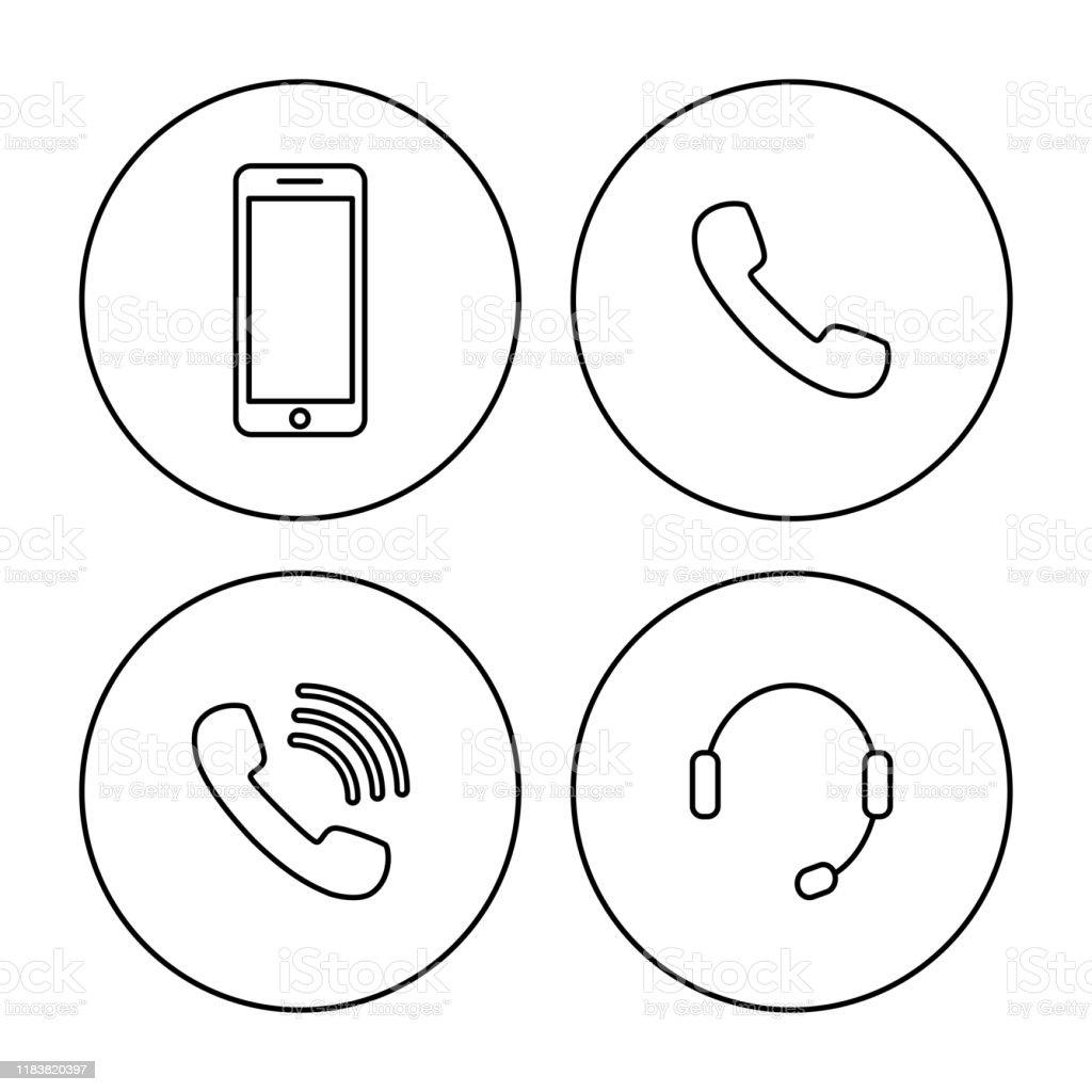 Modern Vector Illustration Telephone Mobile Headset Icon Stock Illustration Download Image Now Istock