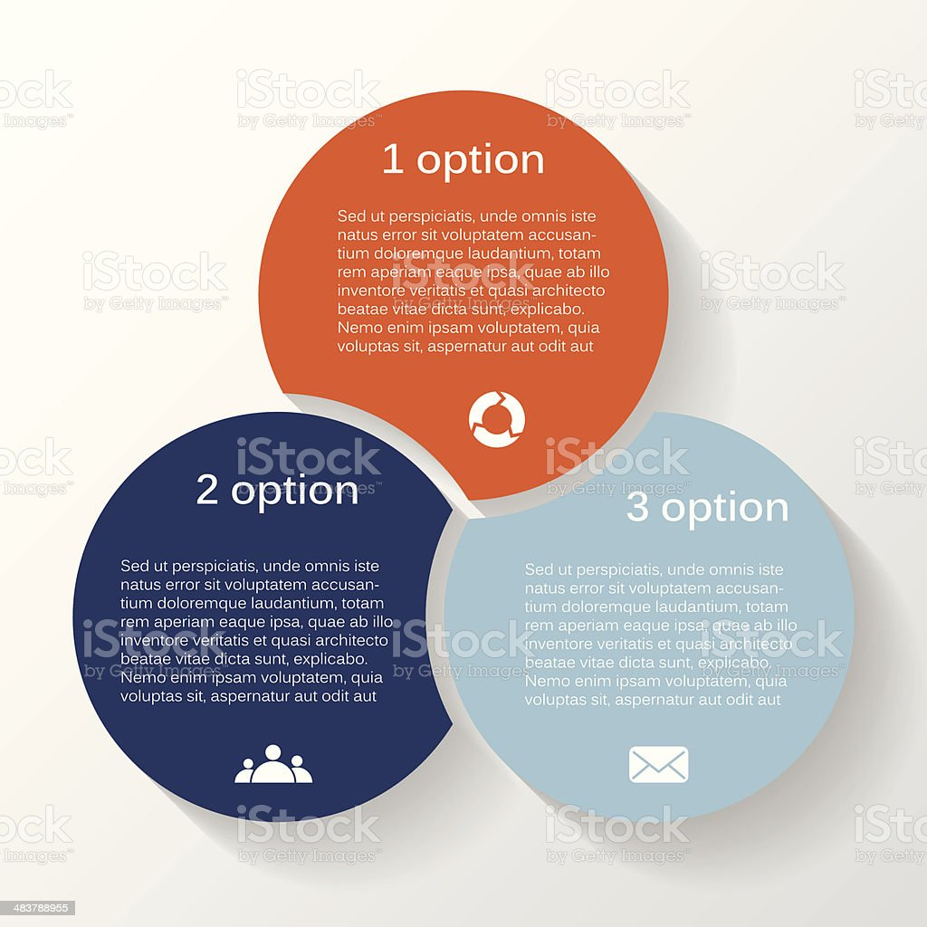 Modern vector info graphic for business project vector art illustration