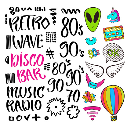 Modern vector lettering. Pop art stickers and signs. Printable calligraphy phrase. T-shirt print design.