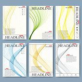 Modern vector set of brochures, magazine, flyer, booklet, cover or