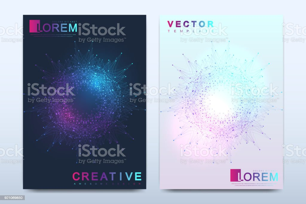 Modern vector template for brochure, leaflet, flyer, cover, catalog, magazine or annual report in A4 size. Business, science and technology design book layout. Presentation with mandala. Card surface royalty-free modern vector template for brochure leaflet flyer cover catalog magazine or annual report in a4 size business science and technology design book layout presentation with mandala card surface stock illustration - download image now
