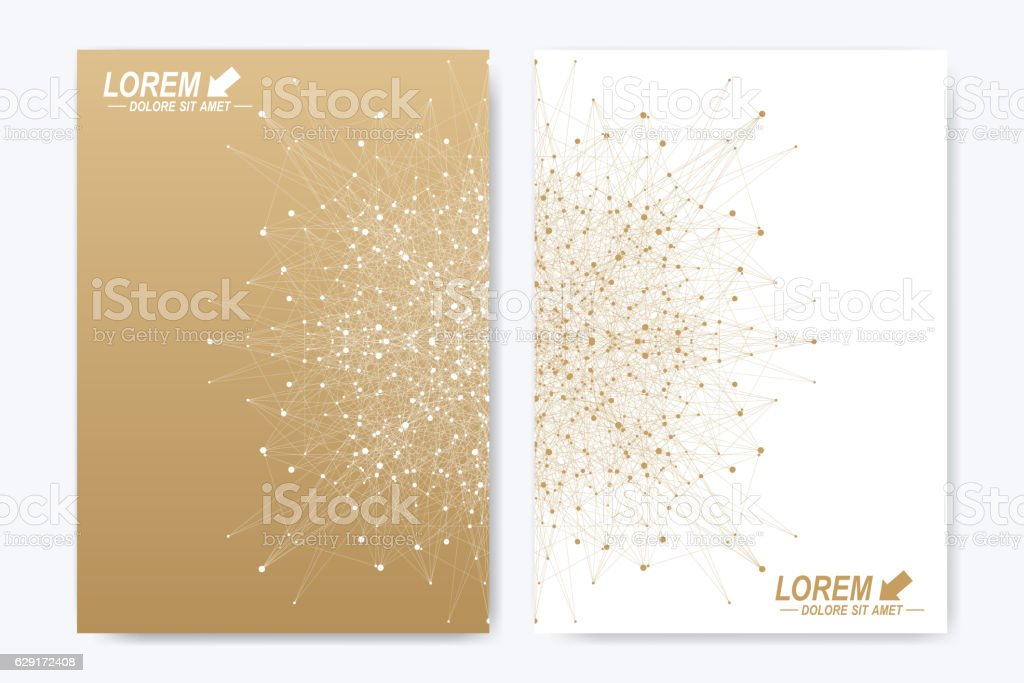 Modern vector template for brochure, leaflet, flyer, cover, magazine or