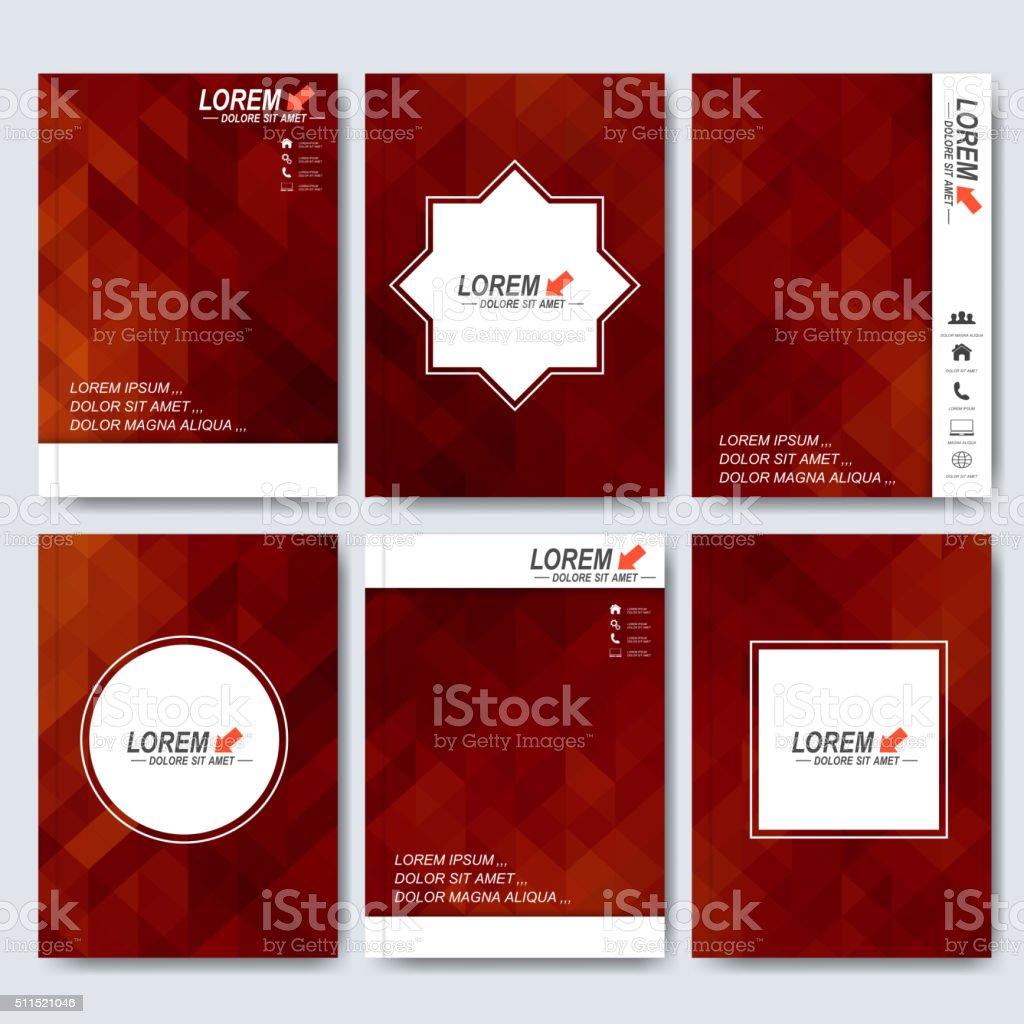 Vector Brochure Flyer Magazine: Modern Vector Templates For Brochure Flyer Cover Magazine