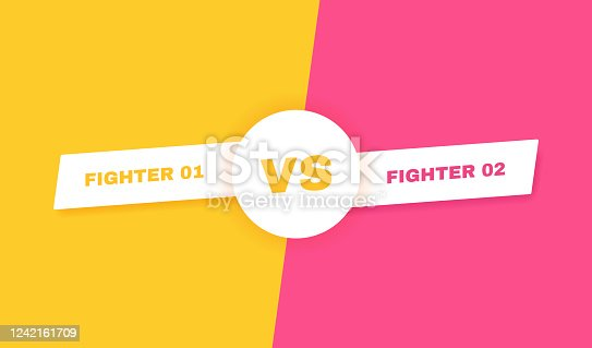 Modern versus battle background. Vs battle headline. Competitions between contestants, fighters or teams. Vector illustration.