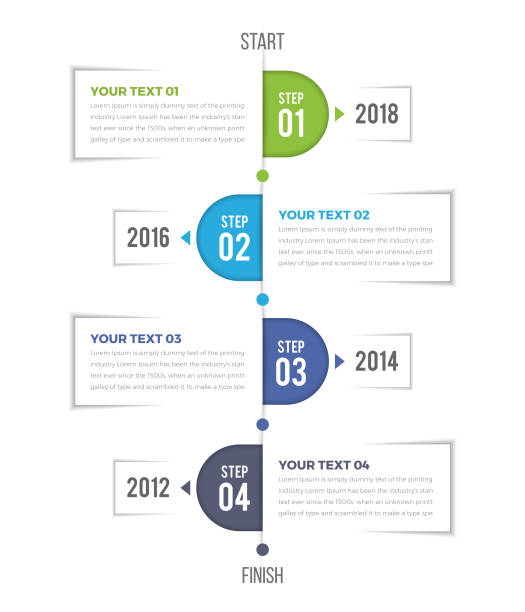 Bекторная иллюстрация Modern Vertical Timeline Infographics
