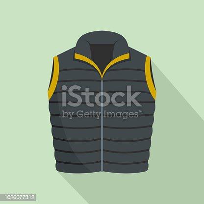 Modern vest icon. Flat illustration of modern vest vector icon for web design
