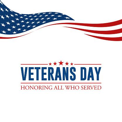 Modern Veterans Day Celebration Background Header Banner