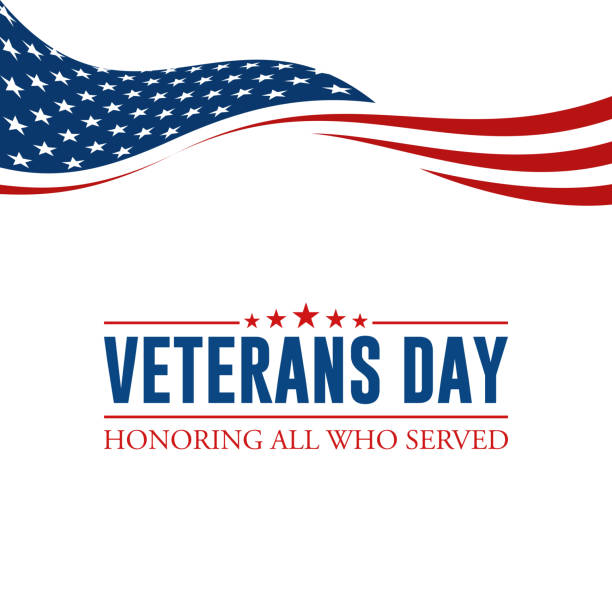 modern veterans day celebration background header banner - american flag stock illustrations