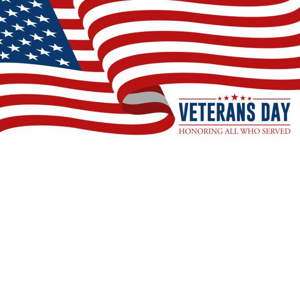 modern veterans day celebration background header banner - veterans day stock illustrations