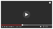 Modern video player design template for web. Vector illustration