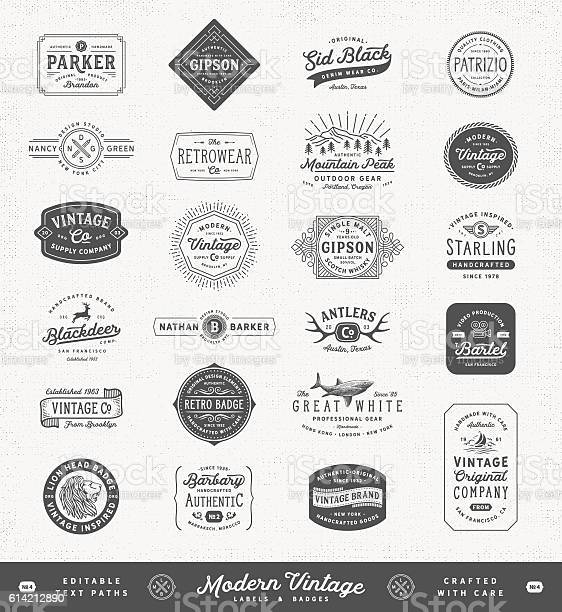 Modern vintage labelsbadges and signs vector id614212890?b=1&k=6&m=614212890&s=612x612&h=a3qplht6rartlanjse0afsd8 gylhexpx oefxqu2ya=