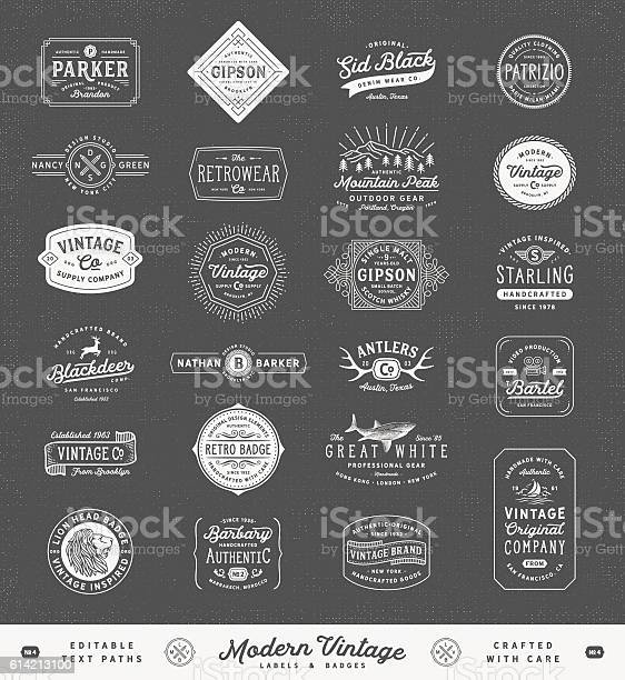 Modern vintage labelsbadges and signs vector id614213100?b=1&k=6&m=614213100&s=612x612&h=j5rzdgrpfqyot9do t6z6w mwhrbqai0wzz4syeiep4=