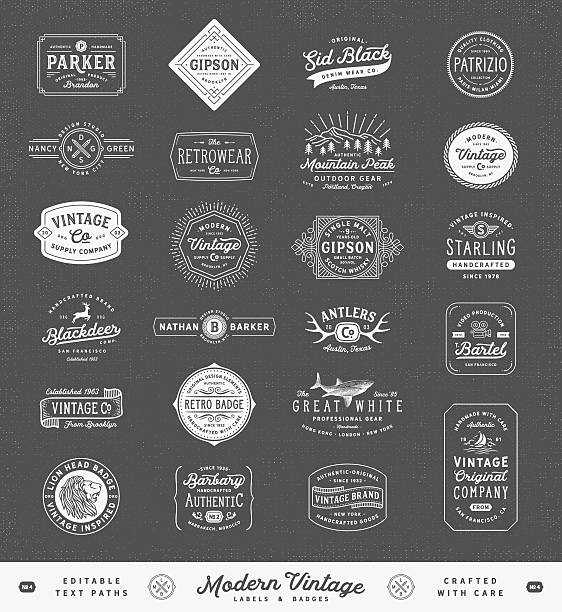 Modern Vintage Labels,Badges and Signs​​vectorkunst illustratie