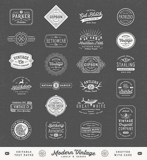 Modern Vintage Labels,Badges and Signs – Vektorgrafik