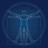 Modern Vitruvian Man Background