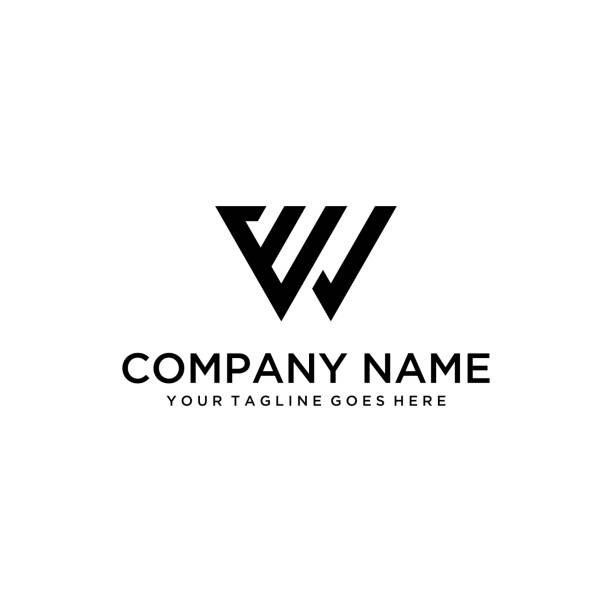 Modern W logo The illustration of the E and W symbols that are combined into one with a simple and modern concept. w logo stock illustrations