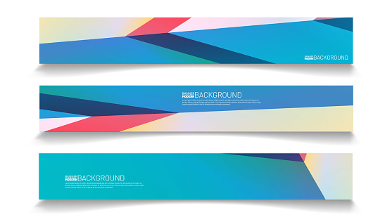 Modern web banner background. abstract vector template design