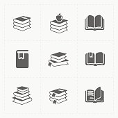 This is a vector illustration of Modern Web Books set on White.