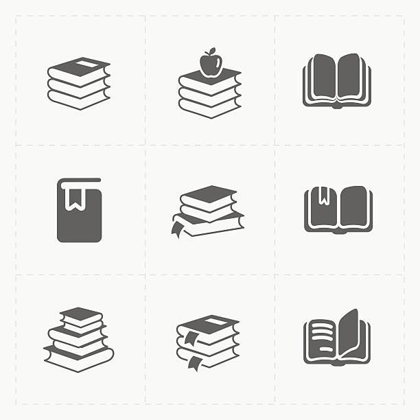 Modern Web Books set on White. vector art illustration