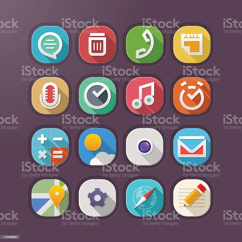 Modern Web Icons - Illustration vector art illustration