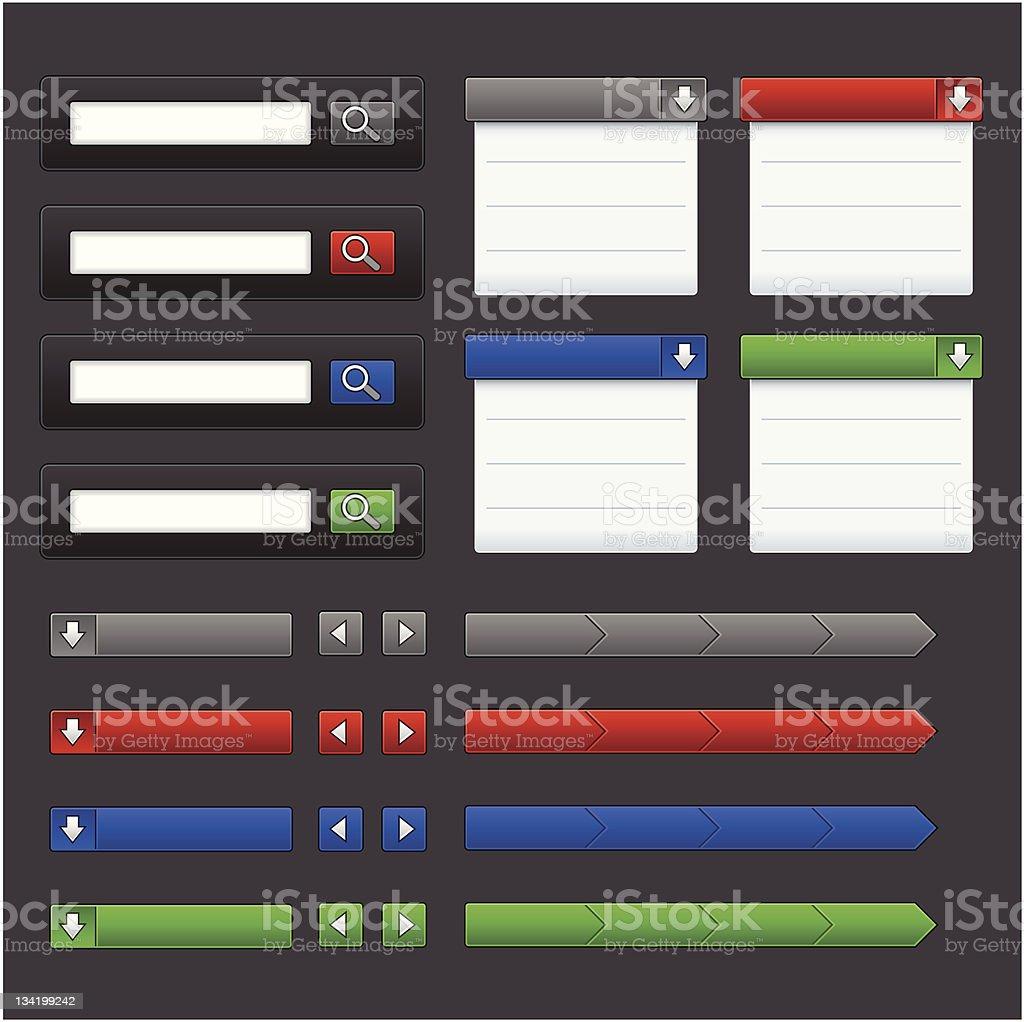 Modern Web UI royalty-free modern web ui stock vector art & more images of blue