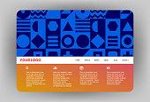 Modern Website design template.