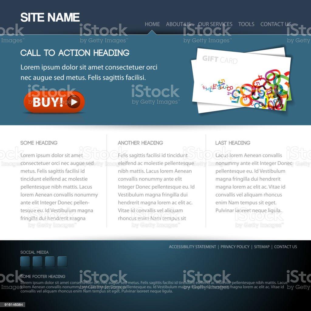 Moderne Website Vorlage Stock Vektor Art und mehr Bilder von ...