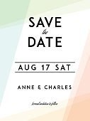 Modern Wedding Save the Date