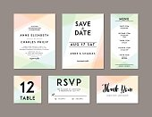 Modern Wedding Set template