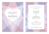 Modern Wedding template - Invitation. - Illustration