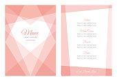 Modern Wedding template - Menu - Illustration