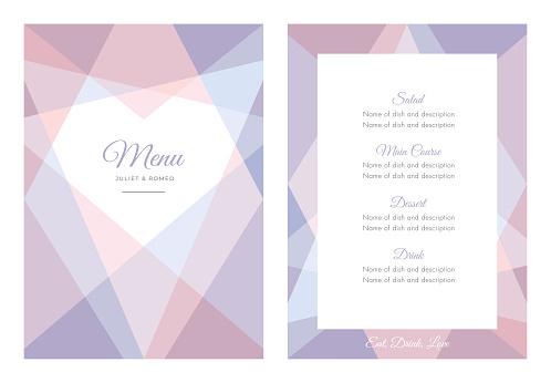 Modern Wedding template - Menu.
