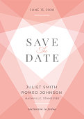 Modern Wedding template - Save the date -Illustration