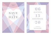 Modern Wedding template - Save the date. - Illustration